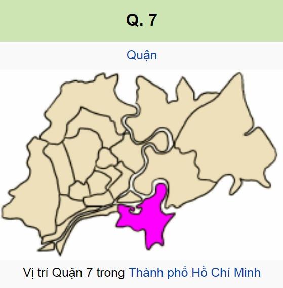vị trí địa lý quận 7