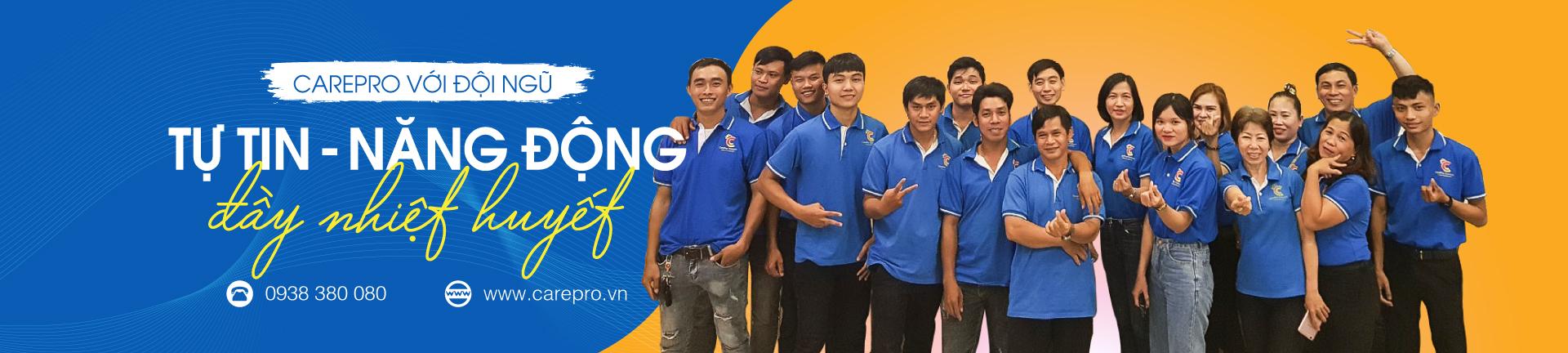 đội ngũ nhân viên năng động chuyên nghiệp Carepro.vn