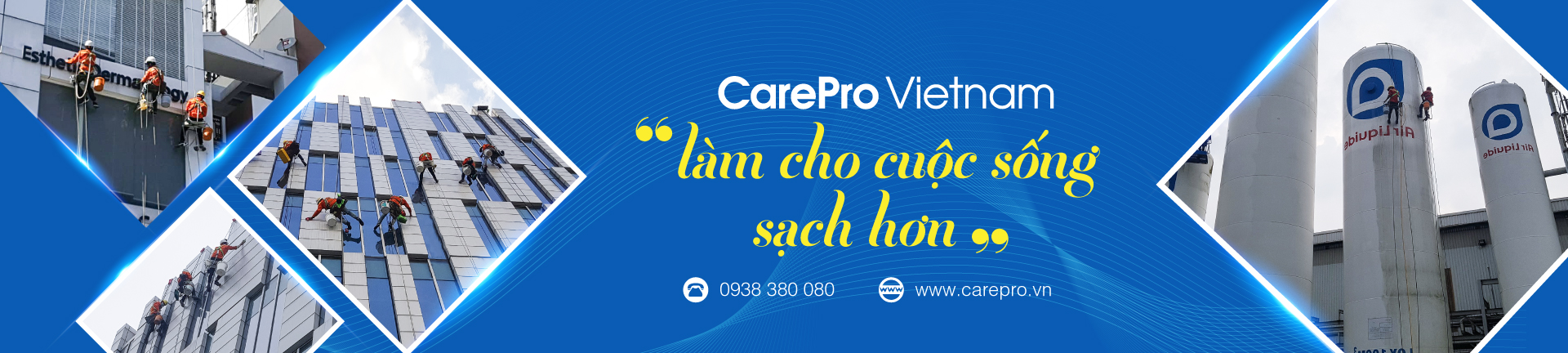ve sinh cong nghiep carepro lam cho cuoc song sach se hon