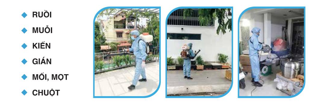 Banner diệt côn trùng phun hóa chất khử khuẩn